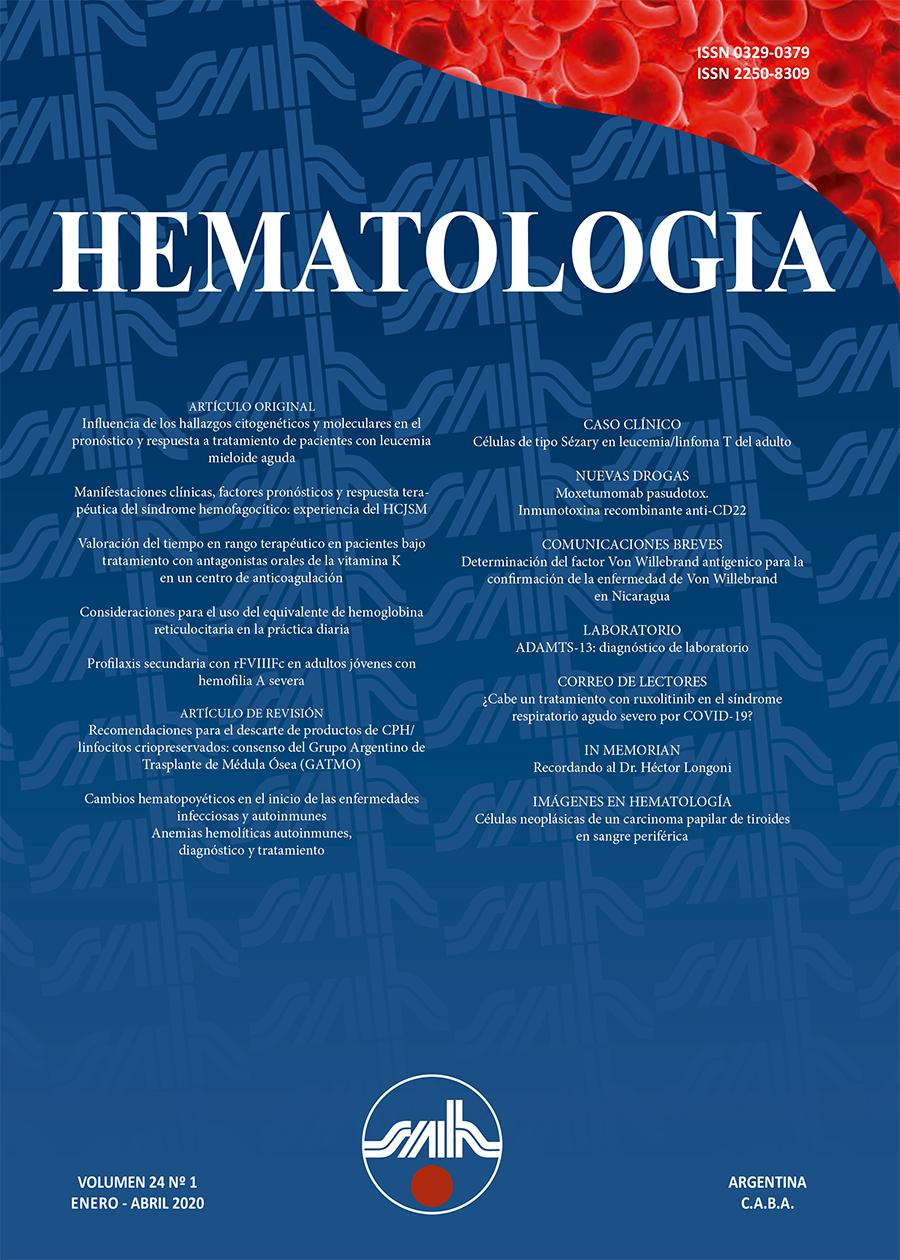 Revista HematologíaENERO - ABRIL 2020